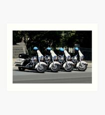 US Capitol Police Motorcycles Art Print