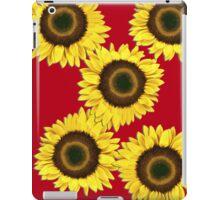 Ipad case - Sunflowers Racy Red iPad Case/Skin