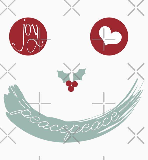 Christmas Peace Love Joy Holiday Smiley by fatfatin