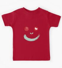 Christmas Peace Love Joy Holiday Smiley Kids Tee