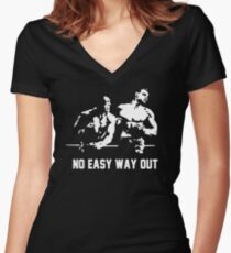 Rocky no easy way out Women's Fitted V-Neck T-Shirt