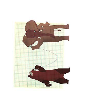 Bear & Elephant by slagroom