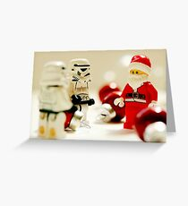 Santa's little troopers Greeting Card