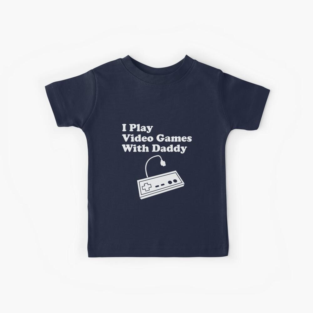 Yo juego videojuegos con papá Camiseta para niños