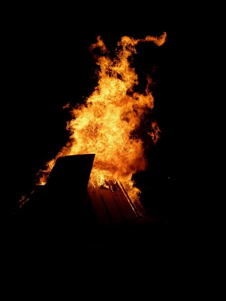Guy Fawkes Bonfire   Notting Hill, London, UK by rubbish-art