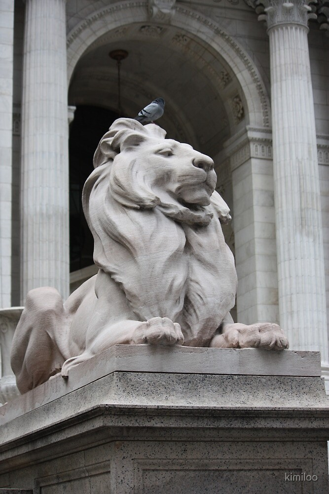 lion statue by kimiloo