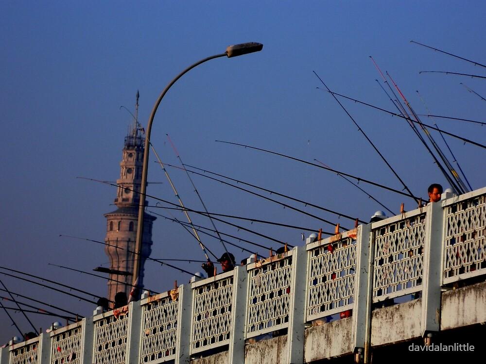 Galata Bridge Fishing by davidalanlittle