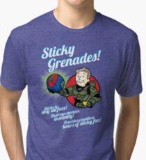 Sticky Grenades! Tri-blend T-Shirt