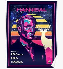 Hannibal 80's Poster Poster