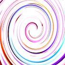 Swirl white Ipad case by Magdalena Warmuz-Dent