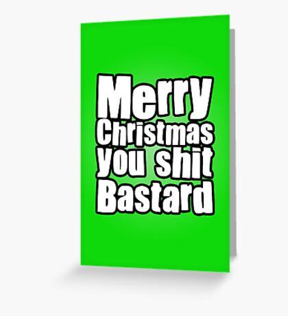 Merry Shitmas Greeting Card