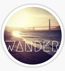 San Francisco Wander Beach Travel Awesome Ocean Good Vibes Tumblr Print Sticker