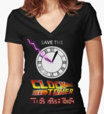Save The Clock Tower Women's Fitted V-Neck T-Shirt