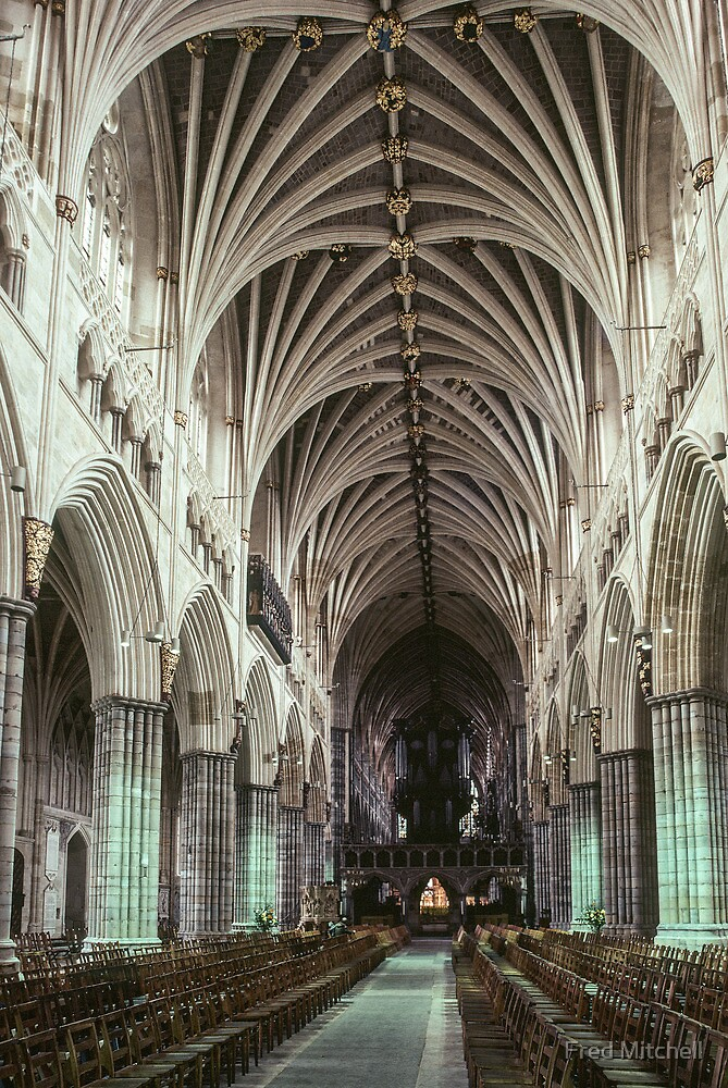 Nave Exeter Cathedral 19810114 0004 by Fred Mitchell