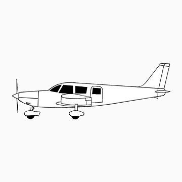 Piper PA-32 Cherokee Six Outline by bigandy