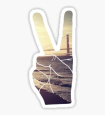 Peace Hand San Francisco Hipster Wanderlust Tumblr Print Sticker