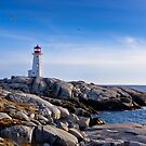 Peggy's Cove Lighthouse, Nova Scotia #2 by Charles Plant