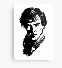 Sherlock Retro Style Metal Print