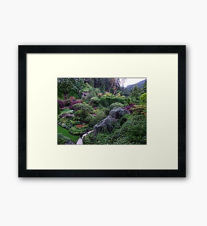The Sunken Garden Framed Print