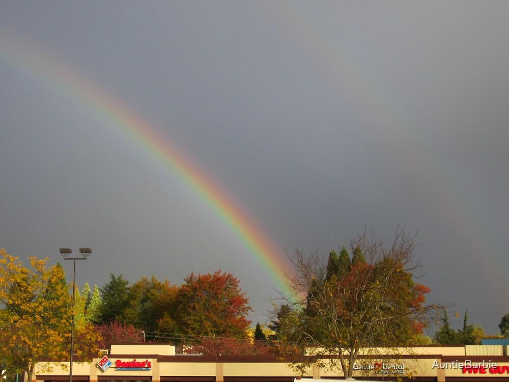 Dark skies and Rainbow by AuntieBarbie