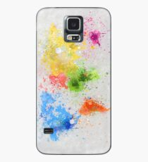 world map painting Case/Skin for Samsung Galaxy