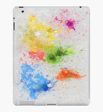 world map painting iPad-Hülle & Klebefolie