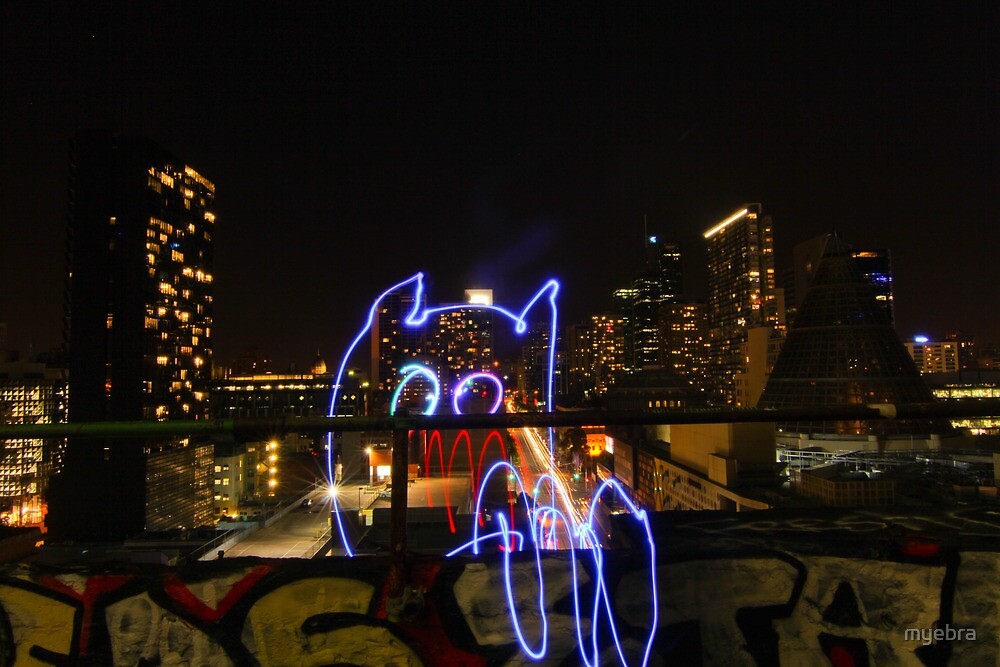 Light Monster in the Veranda by myebra