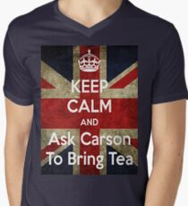 Keep Calm and Ask Carson To Bring Tea Men's V-Neck T-Shirt