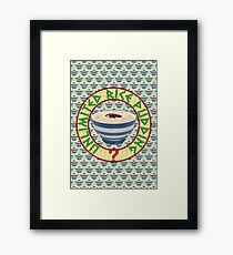 Unlimited Rice Pudding Framed Print