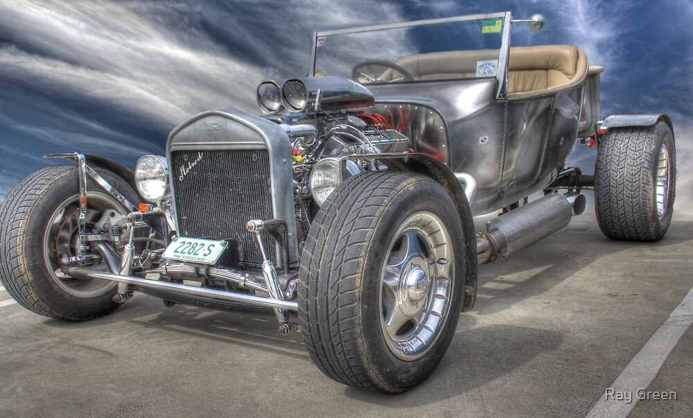 Silver Hot Rod by Ray Green