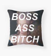 marie antoinette- boss ass bitch Throw Pillow