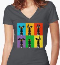 Greyhound Semaphore Women's Fitted V-Neck T-Shirt