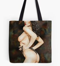 Black-haired Beauty - Night theme Tote Bag