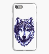 Timber Wolf - Blue iPhone Case/Skin