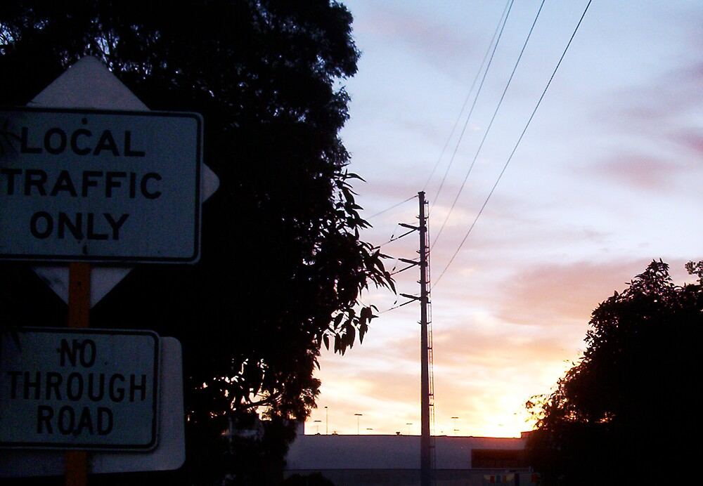 Local Traffic Only Sign - 24 10 12 by Robert Phillips