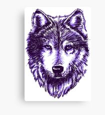 Timber Wolf-Purple Canvas Print