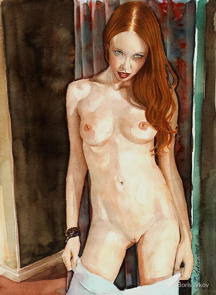 Natasha on the doorstep No.1 by Boris Ivkov