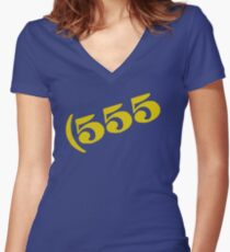 555 Women's Fitted V-Neck T-Shirt