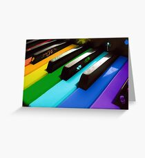 Piano color Greeting Card