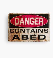 DANGER! Contains nerd Canvas Print
