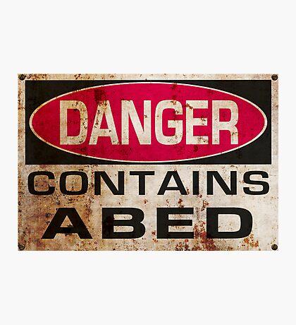 DANGER! Contains nerd Photographic Print