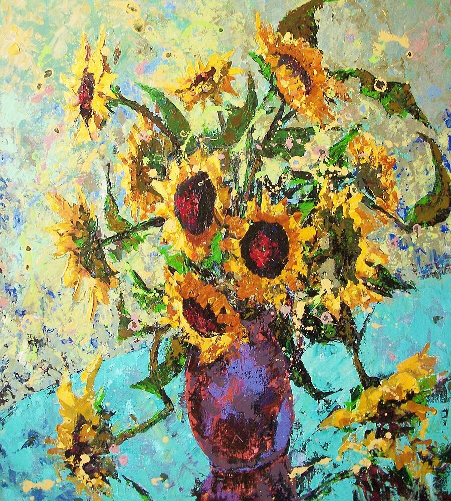 sunflower and extra time by Domnicev