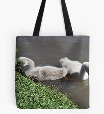 Two Fluffy Babies Tote Bag
