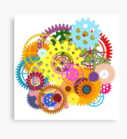 colorful gears Canvas Print