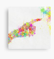 pointing finger Canvas Print