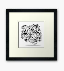 gear wheel Framed Print