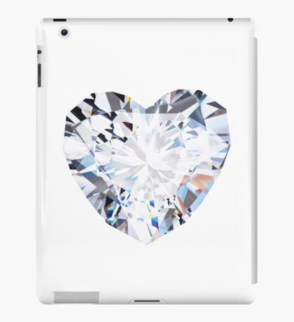 brilliant cut heart diamond ring iPad Case/Skin