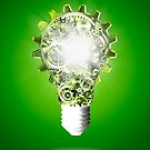 light bulb design by cogs and gears by naphotos