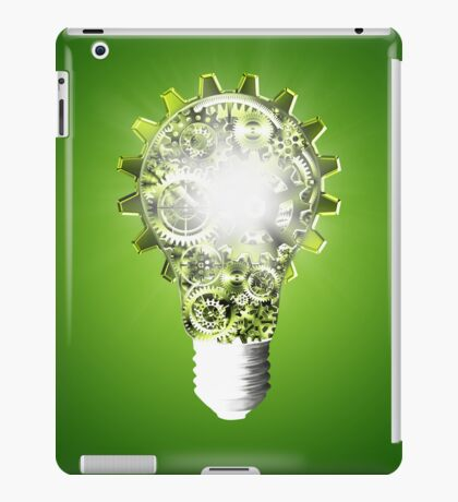 light bulb design by cogs and gears iPad Case/Skin
