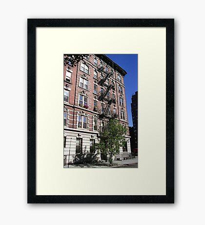 Apartment block, Greenwich Village Framed Print